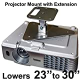 Projector-Gear Projector Ceiling Mount for PANASONIC PT-AE3000U, AE3000, AE2000, AE2000U with Extension Lowers 23
