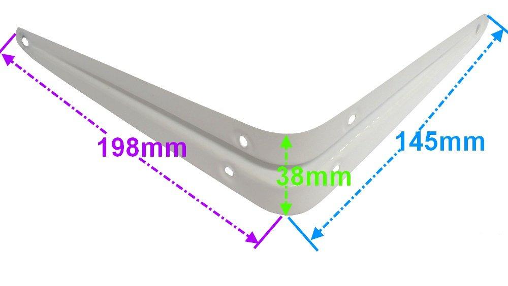 2 x Soportes para estantes 20//15 cm Color blanco C3464 AERZETIX