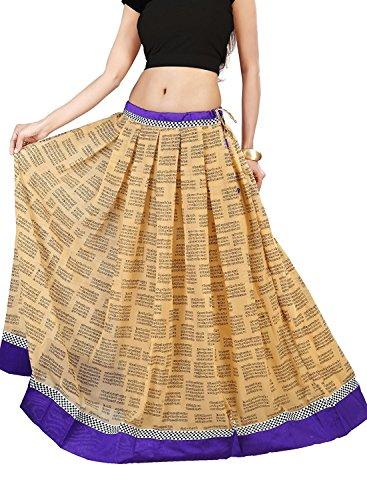 Indian Handicrfats Export Admyrin Women Tan Georgette Skirt