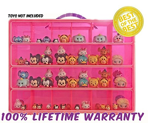 [Life Made Better Toy Storage Organizer. Fits Up to 40 Figures. Compatible With Tsum Tsum TM Mini] (Rafiki Costume With Cat)