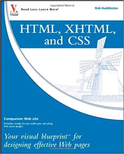 Html xhtml and css your visual blueprint for designing effective html xhtml and css your visual blueprint for designing effective web pages 1st edition malvernweather Images
