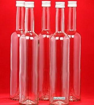 SLK - 10 botellas de cristal (500 ml, con tapones, 31 cm)