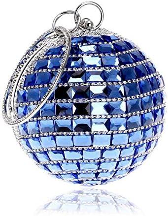 バッグ - メタル/ラインストーン/北欧スタイルトラベルトート、ショルダーバッグ/ショルダーバッグ/メタリックハンドバッグ、ハード/ウェアラブル(12.5x25cm) よくできた (Color : Blue)