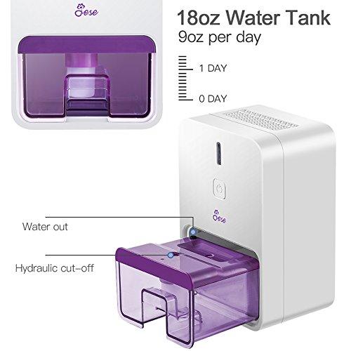 Camper Basement Closet Bathroom Jese Small Dehumidifier for Bedroom 18oz Electric Quiet Mini Room Dehumidifier for 150-220 sq.ft Auto-Off Safe Dehumidifier for Kitchen RV Trailer