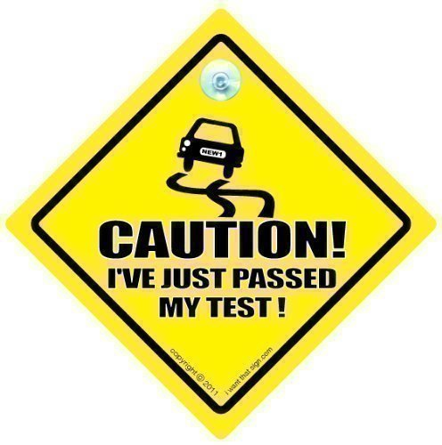 Baby on Board Sign Caution Ive Just passed My Test Caution Ive Just Passed My test Car Sign Driving Sign Driving Test Baby on Board Funny Car Sign Bumper Sticker
