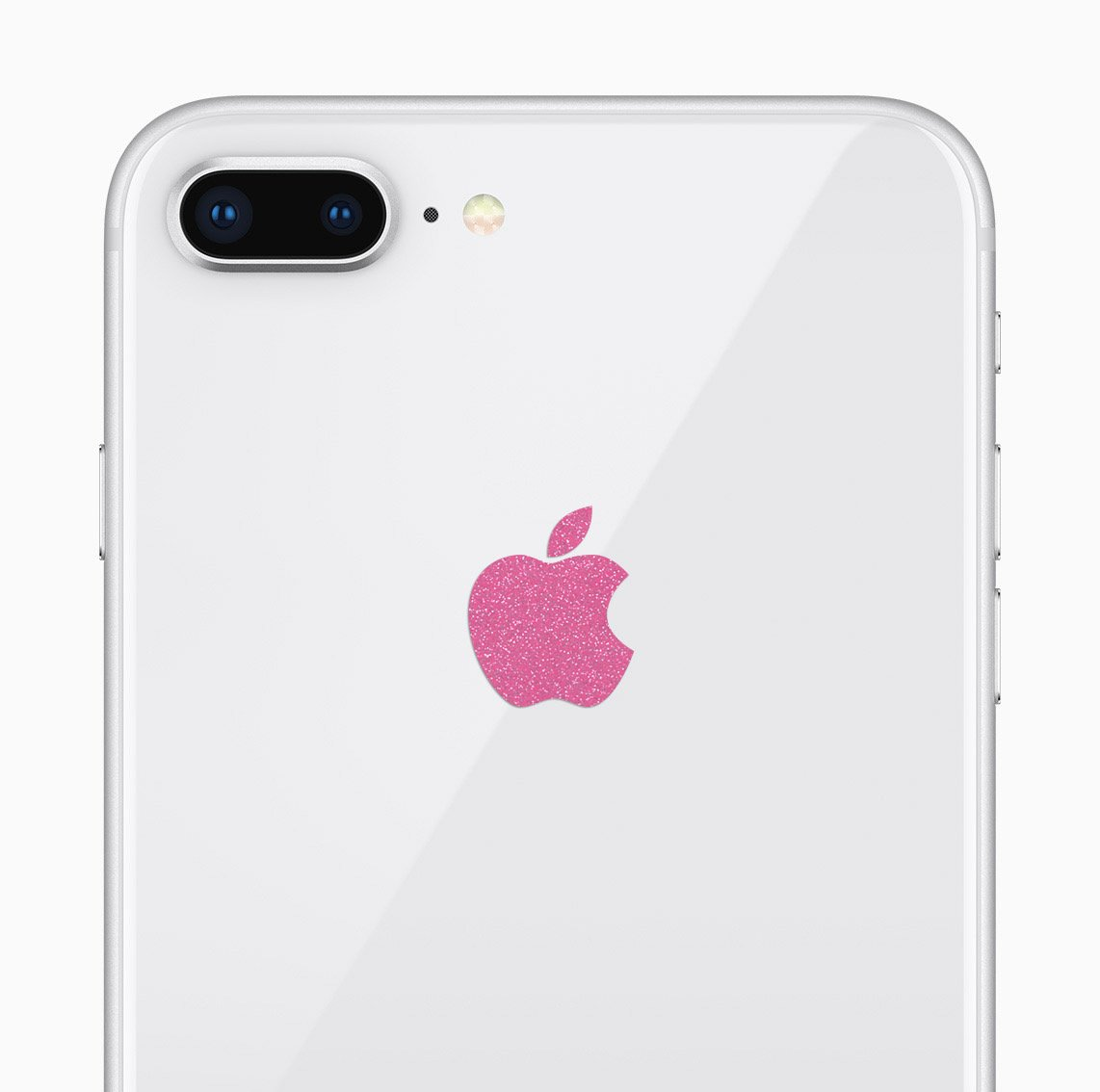 Amazon com glitter pink apple logo decal sticker for iphone 8 plus iphone x iphone 7 plus iphone 6 plus cell phones accessories