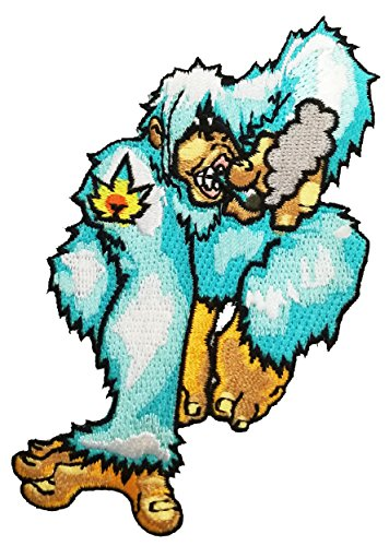 Pot Smoking Pals Mythical Yeti Abominable Snowman - Iron On Patch Applique
