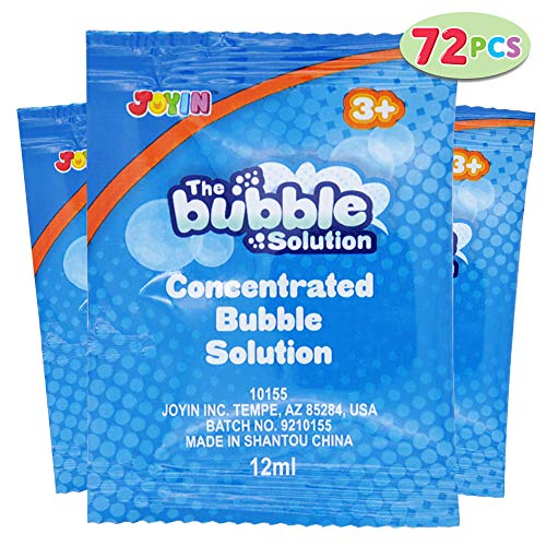 JOYIN 72 Bubble Refill Solution Concentrated (Total 2 Gallon, Each Makes 4oz) Big Bubble Solution for Bubble Wands, Maker, Machine, Blower, Bubble Guns, Birthday Summer Party Favor.