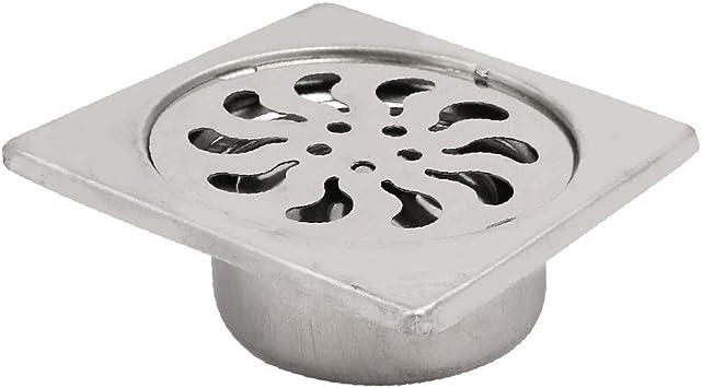 "Kitchen Bathroom Shower Sink Square Floor Drain Outlet Waste Grate Strainer 3/"""