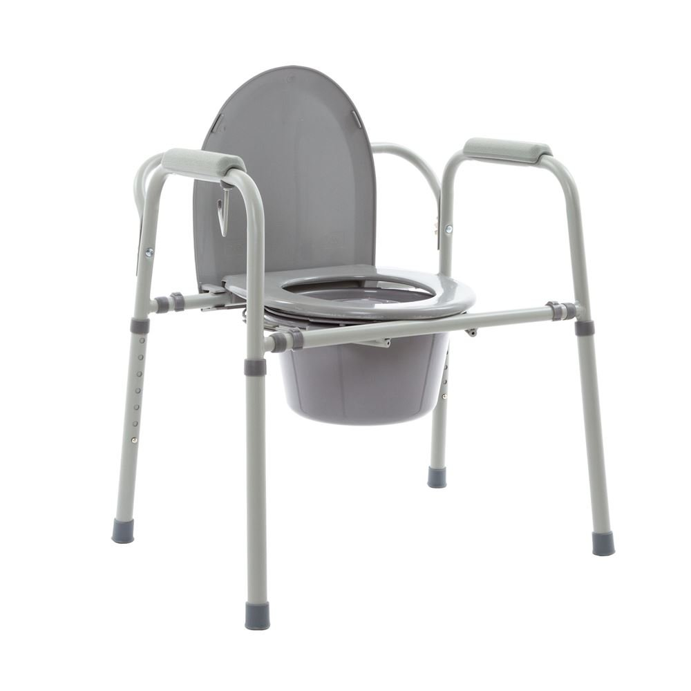Silver Spring Steel Snap Portable Commode 350 Pound Weight Capacity