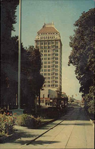 (A View of the Security First National Bank Building Fresno, California Original Vintage Postcard)