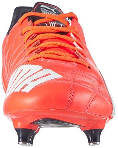 Puma evoSPEED 3.4 Lth SG Herren Fußballschuhe Orange (lava blast-white-lava blast 01)