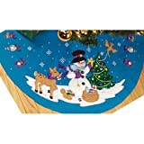"Janlynn Frosty's Favorite Ornament Tree Skirt Felt Applique Kit: 45"" Round"
