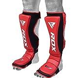 RDX Shin Guard Maya Hide Leather MMA Shin Instep Leg Pads Protective Gear Boxing Muay Thai Kickboxing Training