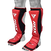 RDX Maya Hide Leather MMA Shin Instep Guard Leg Pads Protective Gear Boxing Muay Thai Kickboxing Training