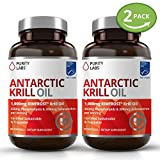 Cheap 2 Bottle Bundle krill Oil Supplement – Healthy Heart, Brain & Joint Support Pills – 2,000mg per serving with 450mg Phospholipids and 200mcg of Astaxanthin