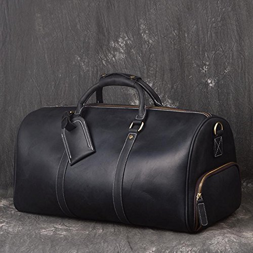 Image Unavailable. Image not available for. Color  Handmade Full Grain  Leather Luggage Bag ... ac6eb74718