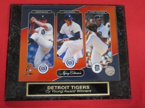 Tigers Denny McLain Jack Morris Justin Verlander Collector Plaque w/8x10 Color Photo