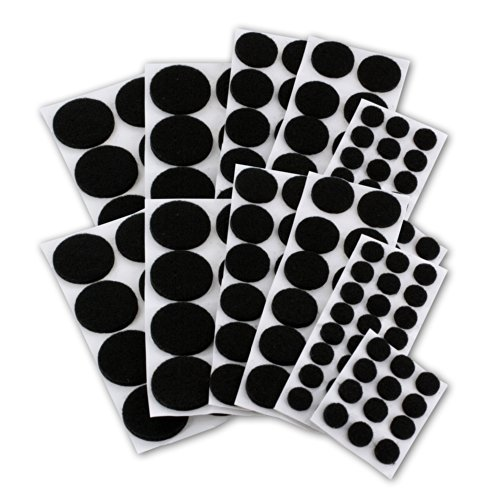 Self Stick Heavy Duty Chair Hardwood Floor Protector, Chair Glides For Furniture, Bar Stools, Lamps, TV's - Protective Pads, Pack of 152 - Black