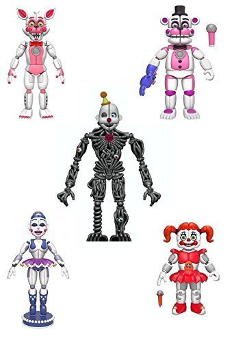 "Funko FNAF Sister Location Articulated Action Figures 5"" C"