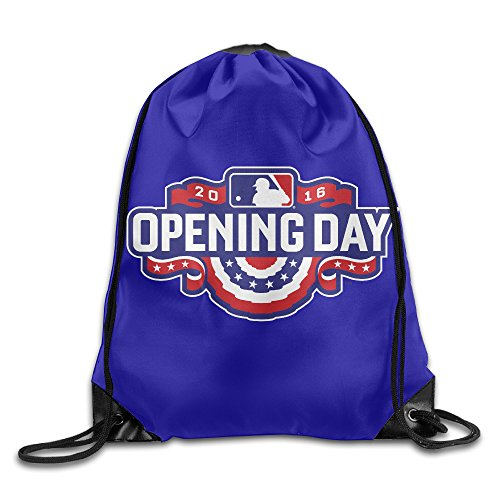 "Price comparison product image 2016 Opening Day Baseball Sackpack Training Gymsack Drawstring Bag Drawstring Backpack Sport Bag Travel Bag Pouch Portable Backpack Rucksack Bagsack 16.9"" X 14.2"" Durable 210 D Polyester"