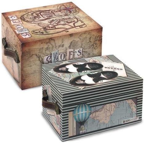 SIGRIS - Caja Limpiazapatos Surtida (1 unidad) 25x16 cm - 66137SG: Amazon.es: Hogar