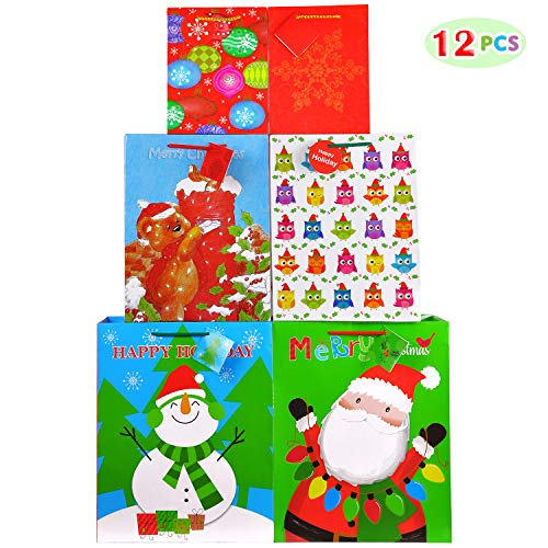 Fzopo Christmas Gift Bags Bulk Set Includes 4