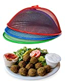 Metal Mesh Screen Food Cover Tent Umbrella, 10.75 inch, Reusable Outdoor Picnic Food