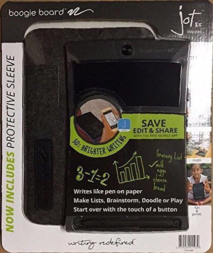 Boogie Board 8.5 Jot Inch LCD Writing Tablet Value Bundle with Neoprene Sleeve and Stylus-BLACK by Boogie Board