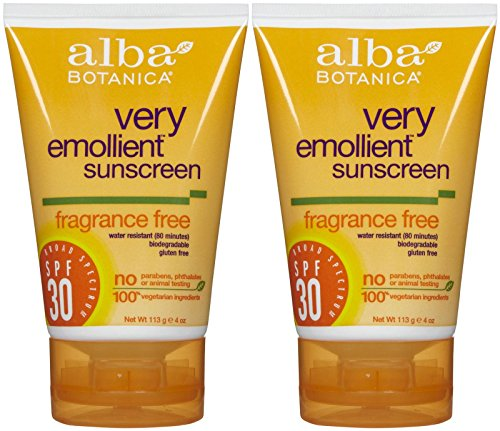 Alba Botanica Sunblock SPF 30, Fragrance Free-4 oz, 2 pack (Alba Sunblock Spray)