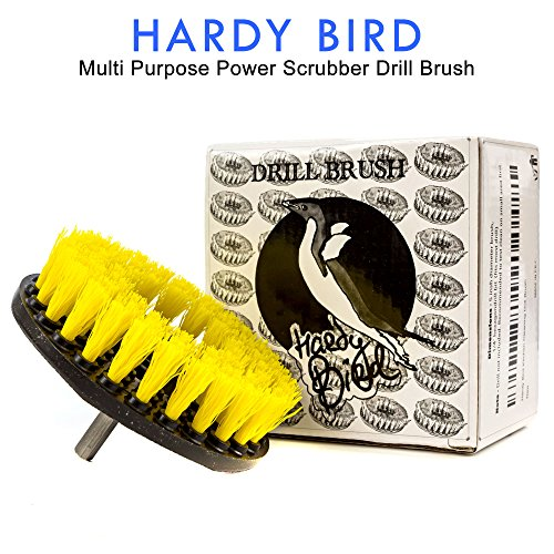 Hardy Bird Multi Purpose Power Scrubber Drill Brush Attachment for Cleaning Bathroom Tile Grout and Much More with Heavy-Duty Medium Stiff Bristles (Bird Tile)