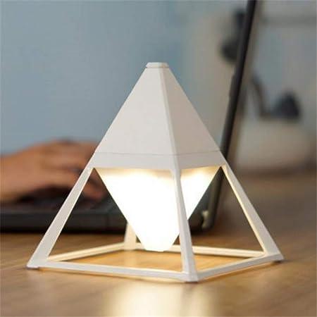 Pirámide Luz de piso Práctica Interruptor táctil Lámparas de pie Protección para los ojos a prueba