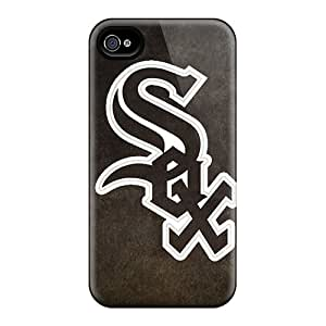 Perfect Hard Phone Cover For Iphone 4/4s With Allow Personal Design Trendy Chicago White Sox Series SherriFakhry