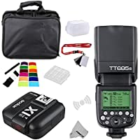 Fomito Godox TT685S TTL 2.4GHz Wireless Master /External AutoFlash Speedlite &X1T-S Transmitter Trigger HSS for Sony A77II A7RII A7R A58 A99 ILCE6000L cameras, HVL-F60M F43M F32M flashes