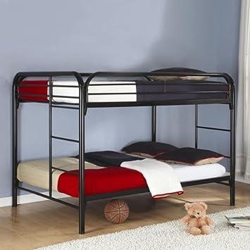 coaster fine furniture 460056k full over full bunk bed metal black - Bunk Beds Metal Frame