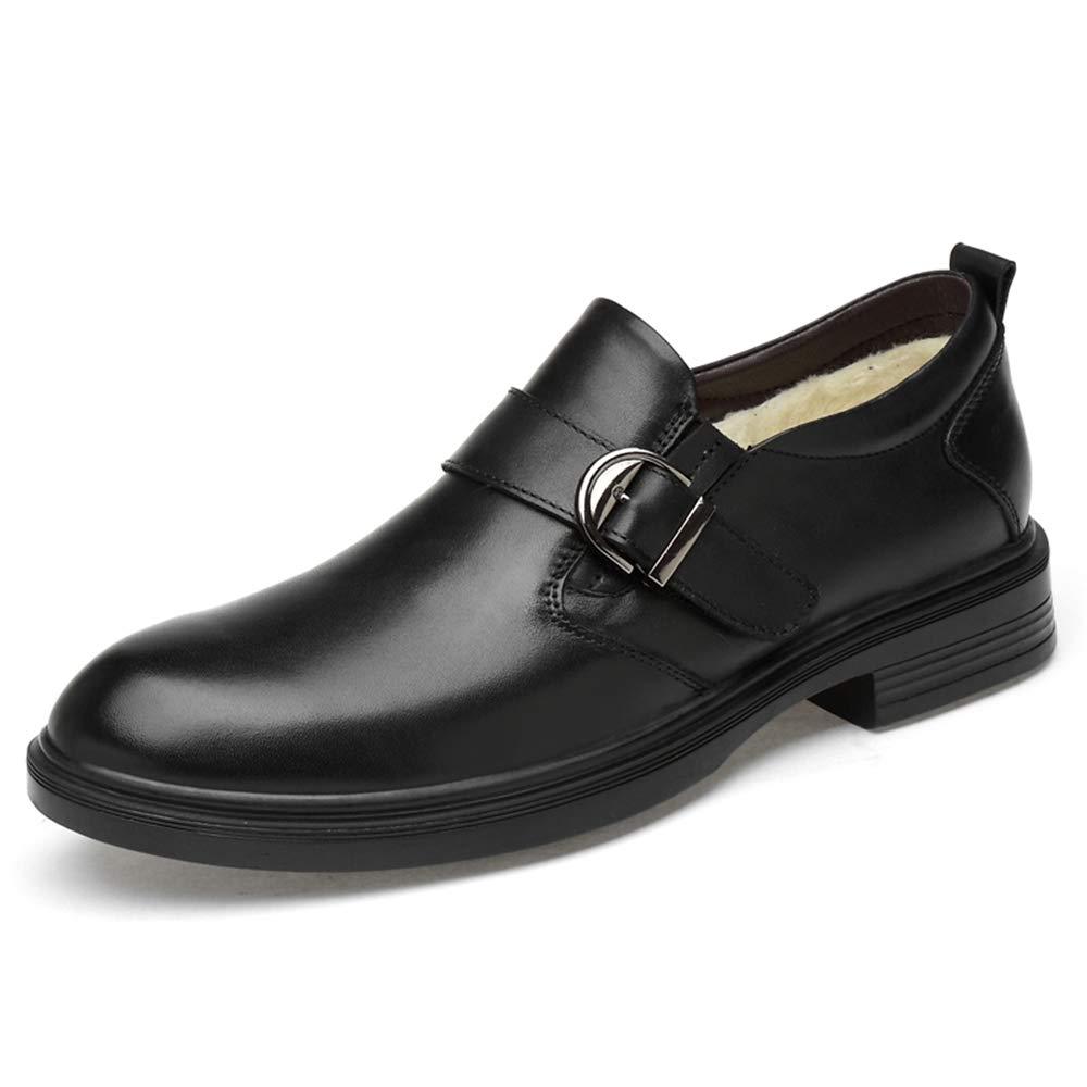 Warm schwarz 43 EU Meipa-Zeit Herrenmode Oxford L&au ;ssige, Bequeme und Bequeme, mit Fleece gef&uu ;tterte formelle Schuhe (konventionell optional) Elegante, Bequeme Schuhe