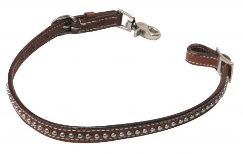 PONY size leather studded wither strap comes with 2 scissor snaps