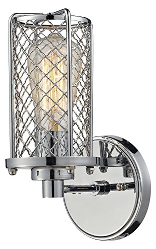 Brisbane 1 Light Wall Sconce in Polished Chrome