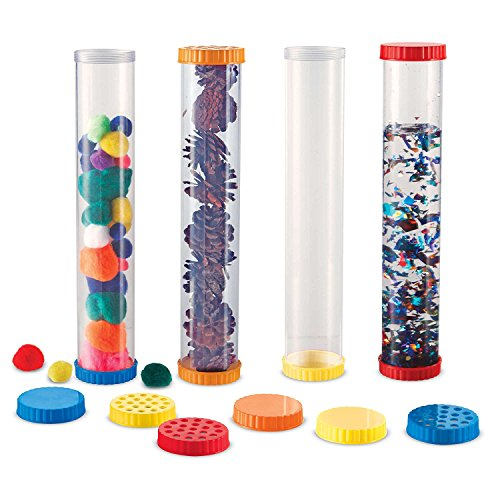 Learning Resources Primary Science Sensory Tubes, Calm Down Bottles, Set of 4 Tubes