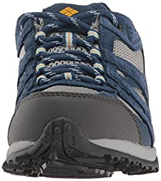 Columbia Unisex-Kids Youth Redmond Waterproof Hiking Boot, Steam, Super Solarize, 6 M US Big Kid