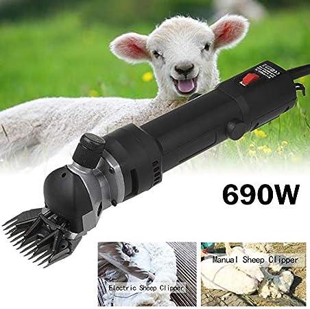 Vinteky 690W Kit de Máquina Esquiladora de Ovejas Cabras Llamas Alpaca Arregando su Animales profesionalmente con Ahorro de Tiempo y Trabajo