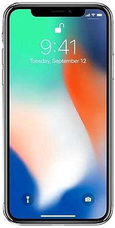 Apple iPhone X 256GB Unlocked GSM Phone - Silver (Renewed)