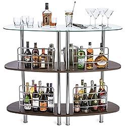 Mango Steam Contemporary Modern Home Entertainment Liquor Bar Catalina Table Wood