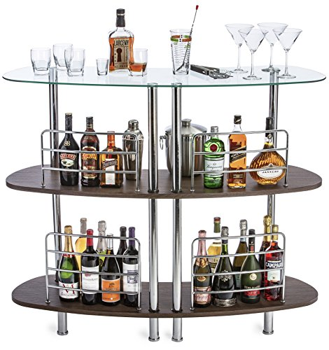 Beverage Bar - Mango Steam Contemporary Modern Home Liquor Bar Catalina Table Wood