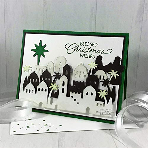 4.5x2.4inch Arab religious Clear Stamp and Dies Set Die Cuts Metal Cutting Die for Scrapbooking Card Making