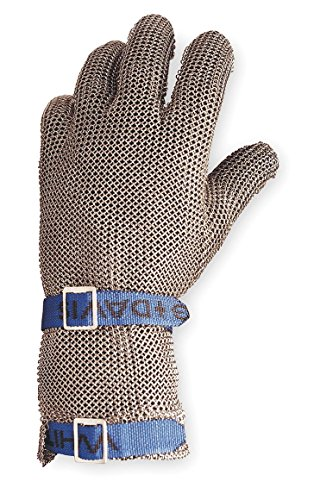 """Honeywell 525L SC Cut Resistant Glove, Silver, Reversible, L, 5Height, 7.56"""" Wide, 1"""" Length"""