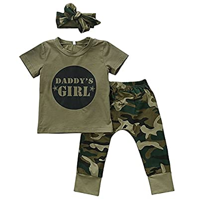 Nowimcute Baby Daddy's Boy Girls Family Matching Clothes Set Tops+ Camouflage Long Pants Outfit