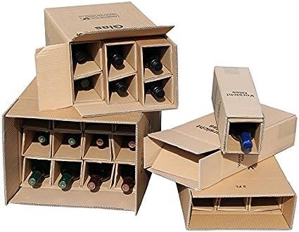 20 x 2 botellas de cajas de cartón para botellas de vino UPS DHL Geprüft Vino Cajas de Cartón botellas de vino Envío del paquete 20 completa caja: Amazon.es: Oficina y papelería
