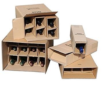 1 x 2 botellas de cajas de cartón para botellas de vino UPS ...