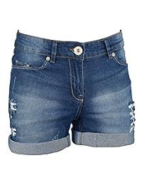 westAce Women's Stretchy Denim Shorts Distressed Boyfriend Skinny Ripped Hotpants